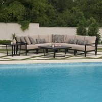 Mallin Madeira Cushion Outdoor Sectional Set - ML-MADEIRA-SET3
