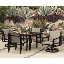 Mallin Madeira Sling Modern Outdoor Dining Set for 4 - ML-MADEIRA-SET2