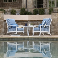 Mallin Oakland Aluminum Cushion Outdoor Lounge Chair Set with Side Table - ML-OAKLAND-SET2