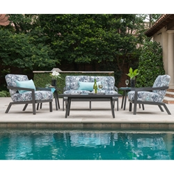 Mallin Oslo Loveseat and Lounge Chair Outdoor Furniture Set - ML-OSLO-SET2