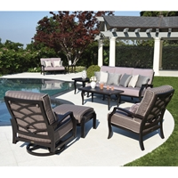 Mallin Palisades Sofa and Lounge Chair Outdoor Patio Set - ML-PALISADES-SET1