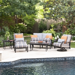 Mallin Palisades Aluminum Cushion Outdoor Furniture Set - ML-PALISADES-SET3