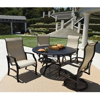 Mallin Palisades Sling Outdoor Dining Set - ML-PALISADES-SET2