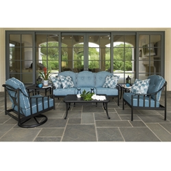 Mallin Province Aluminum Outdoor Furniture Set with Sofa and Lounge Chairs - ML-PROVINCE-SET1