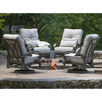 Mallin Salisbury Cushion Swivel Rocker Lounge Chairs - Set of 4 - ML-SALISBURY-SET2