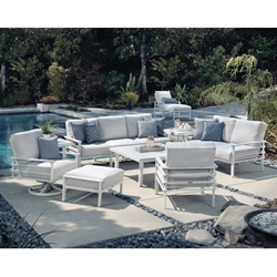 Mallin  Sarasota Modern Outdoor Furniture Set with Cushions - ML-SARASOTA-SET1