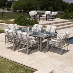 Mallin Sarasota Modern Outdoor Dining Set for 6 - ML-SARASOTA-SET2