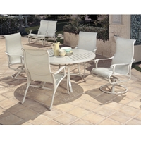 Mallin Scarsdale Sling Traditional Outdoor Dining Set for 4 - ML-SCARSDALE-SET1