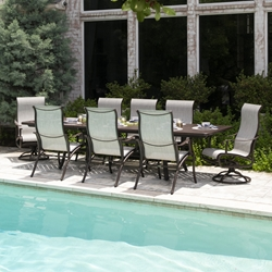 Mallin Scarsdale Aluminum Sling Outdoor Dining Set for 8 - ML-SCARSDALE-SET2