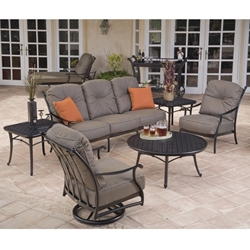 Mallin Sevelle Cushion Sofa and Lounge Chair Outdoor Furniture Set - ML-SEVILLE-SET1