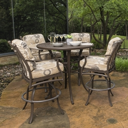 Mallin Seville Cushion Outdoor Bar Table Set for 4 - ML-SEVILLE-SET2