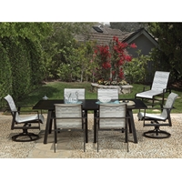 Mallin Tayler Modern Sling Outdoor Dining Set for 6 - ML-TAYLER-SET1