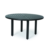 "Mallin Trinidad F-Slat 54"" Round Umbrella Dining Table - B3748-F054U"