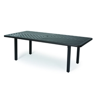 "Mallin Trinidad F-Slat 84"" x 42"" Rectangular Umbrella Dining Table - B3784-F284U"