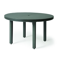 "Mallin Trinidad Slat 48"" Round Umbrella Dining Table - 3-048U"