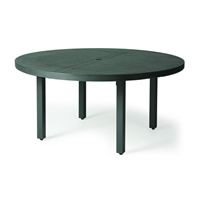 "Mallin Trinidad Slat 60"" Round Umbrella Dining Table - 3-060U"