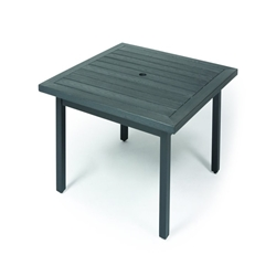 "Mallin Trinidad Woodgrain 36"" Counter Height Square Umbrella Table - BD3736-W136U"
