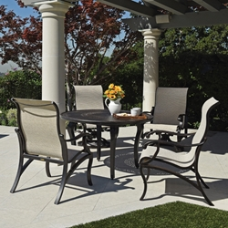 Mallin Volare Sling Traditional Patio Dining Set for 4 - ML-VOLARE-SET2