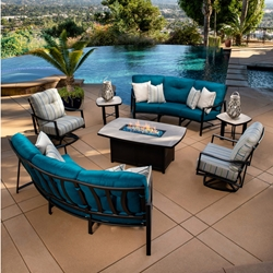 OW Lee Avana Cushion Outdoor Furniture Set with Fire Table - OW-AVANA-SET1