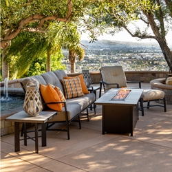 OW Lee Avana Cushion Modern Outdoor Furniture Set with Fire Table - OW-AVANA-SET3