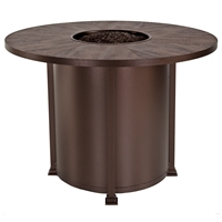 "OW Lee Santorini 54"" Round Counter Height Fire Pit Table - 5110-54RDK"