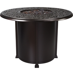 "OW Lee Hacienda 54"" Round Counter Height Fire Pit Table - 5132-54RDK"