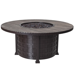 OW Lee Classico 54 inch Round Chat Height Fire Pit Table - 51-10C
