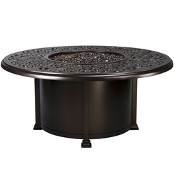 "OW Lee Hacienda 54"" Round Chat Height Fire Pit Table - 5132-54RDC"
