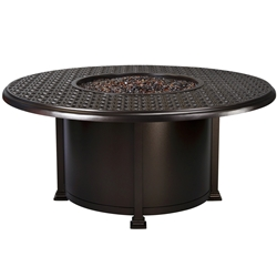 "OW Lee Richmond 54"" Round Chat Height Fire Pit Table - 5134-54RDC"