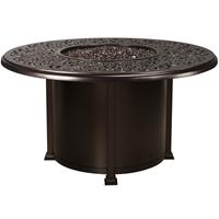 "OW Lee Hacienda 54"" Round Dining Height Fire Pit Table - 5132-54RDD"