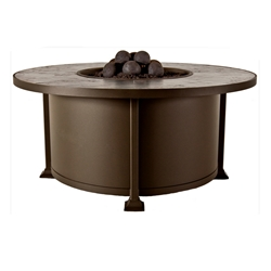OW Lee Vulsini Round Chat Height Fire Pit Table - 5120-RDC