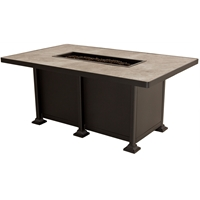 OW Lee Vulsini Rectangle Chat Height Fire Pit Table - 5120-3658C