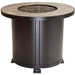 "OW Lee Santorini 30"" Round Chat Height Fire Pit Table - 5110-30RDC"