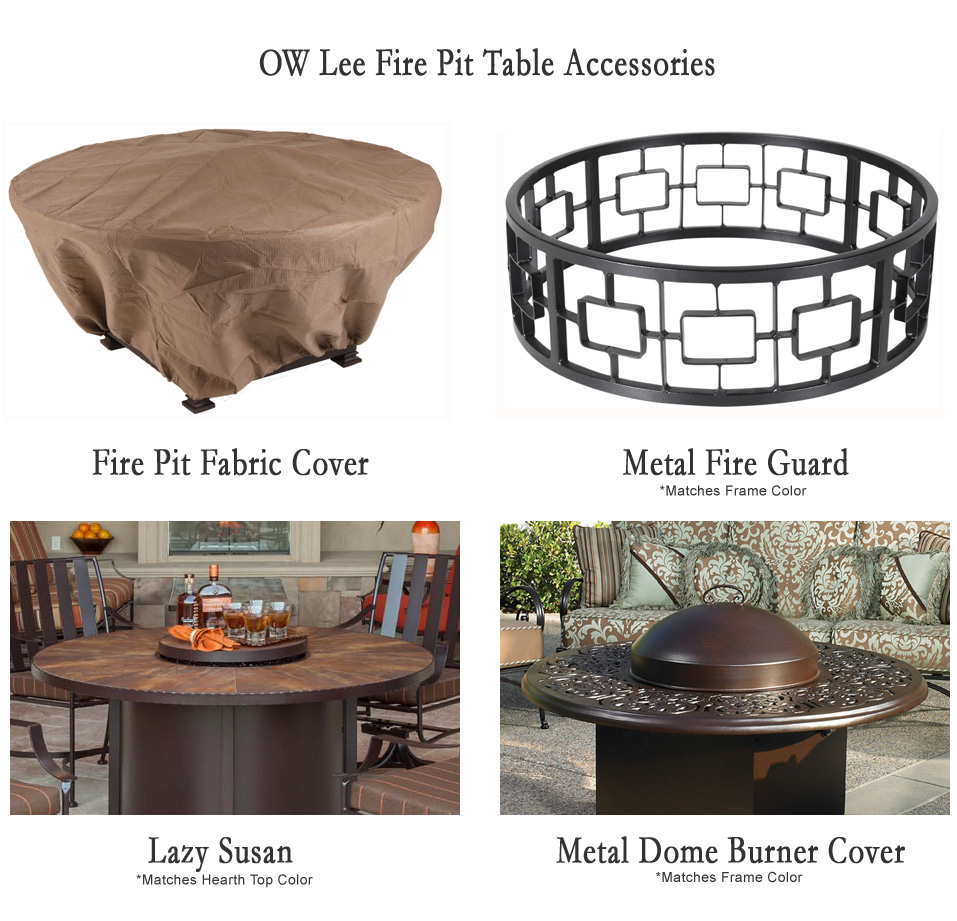 100 Fire Pit Chat Table Patio Gas