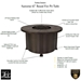 Santorini 42 inch round Fire Pit Features