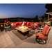 Luxury steel frame lounge chair set