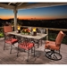 OW Lee Classico Wrought Iron Patio Dining Set