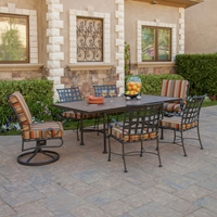 OW Lee Classico 7 Piece Patio Dining Set - 953-AF-SF-P4284RT