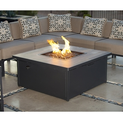 OW Lee Creighton 42 Inch Square Occassional Height Fire Pit Table - 51-187CR
