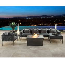 OW Lee Creighton Modern Patio Sectional with Chaise - OW-CREIGHTON-SET3