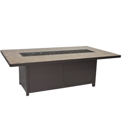 "OW Lee Elba 42"" x 72"" Chat Height Fire Table - 5122-4272C"