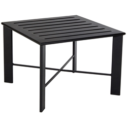 Gios Aluminum Slatted Top Side Table - 45-2828ST