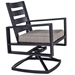 Gios Swivel Rocker Dining Arm Chair - 4533-SR