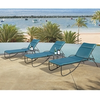 OW Lee Lennox Steel Stacking Chaise Set with Cushions - OW-LENNOX-SET3