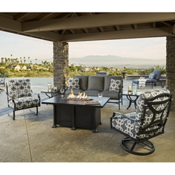 OW Lee Madison Patio Sofa Set with Fire Table - OW-MADISON-SET5