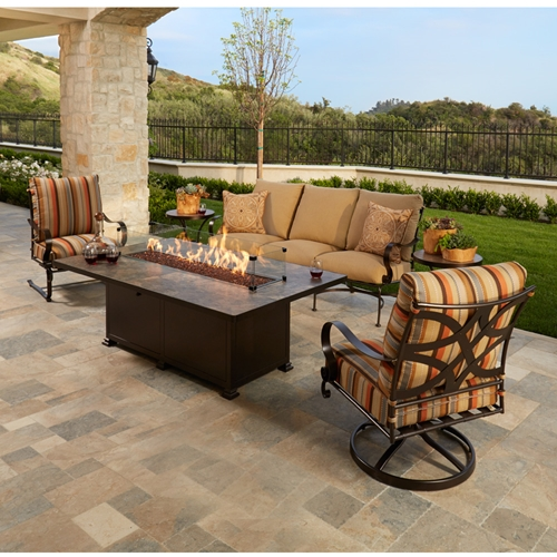 OW Lee Marquette Sofa Patio Set with Fire Table - OW-MARQUETTE-SET5