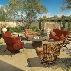OW Lee Monterra Lounge Set with Fire Pit Table