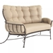 Wrought Iron outdoor love seat set