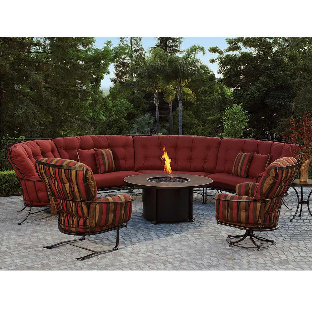 Santorini 54 Quot Round Chat Height Fire Pit Ow Lee At