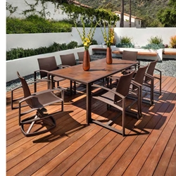 OW Lee Pacifica Sling Modern Patio Dining Set for 8